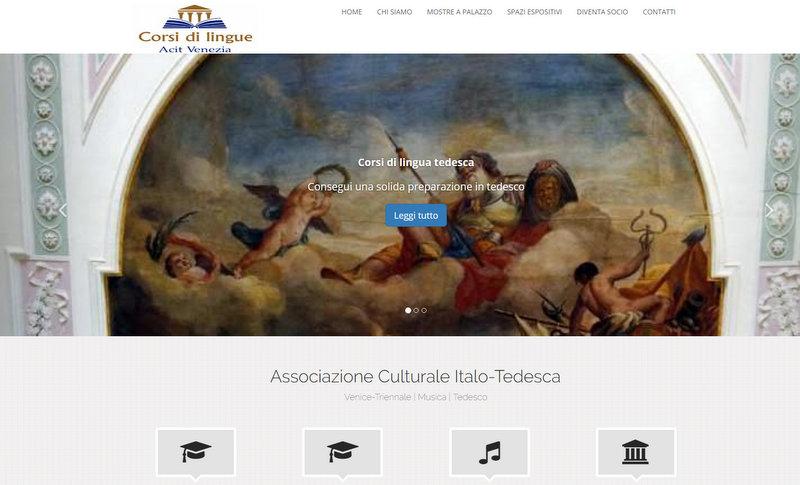 Pagina di ingresso dell'Acit di Venezia.